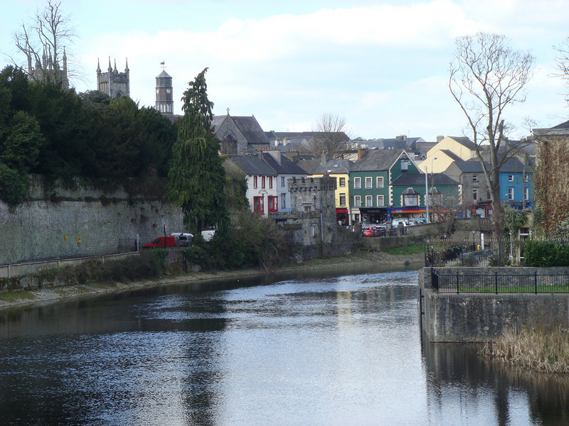 View of Kilkenny along the River Nore from the grounds of Kilkenny Castle