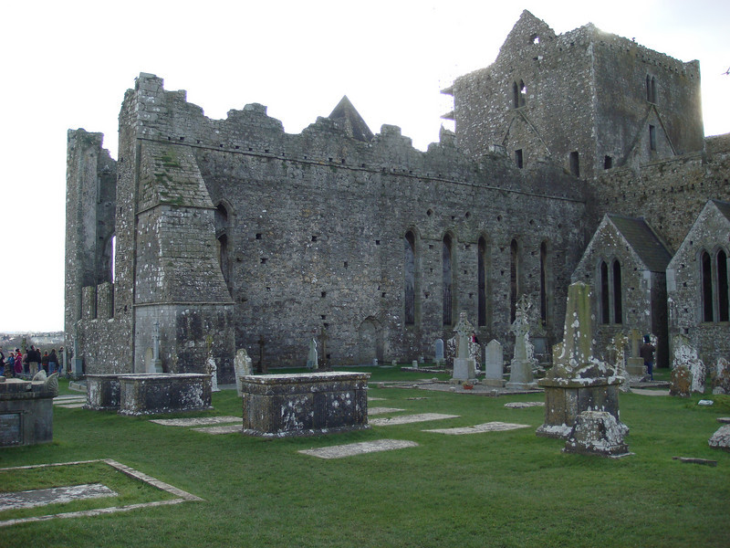 The Rock of Cashel also has a relatively recent (and still active) graveyard, with graves dating in the 18th-21st centuries.