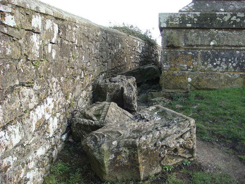 The remains of the Scully monument.