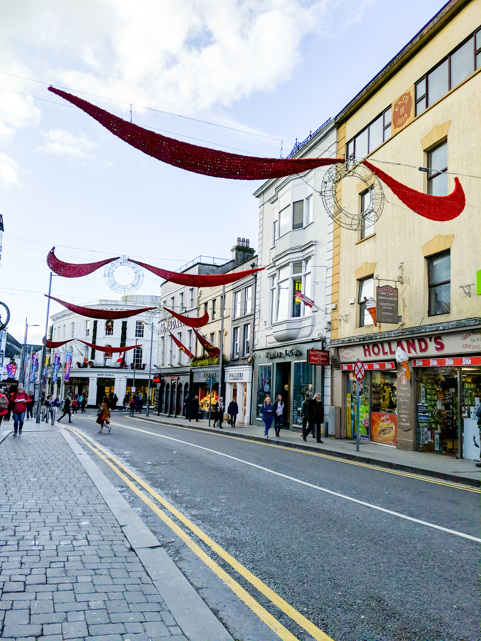 Main street in Galway City Ireland.
