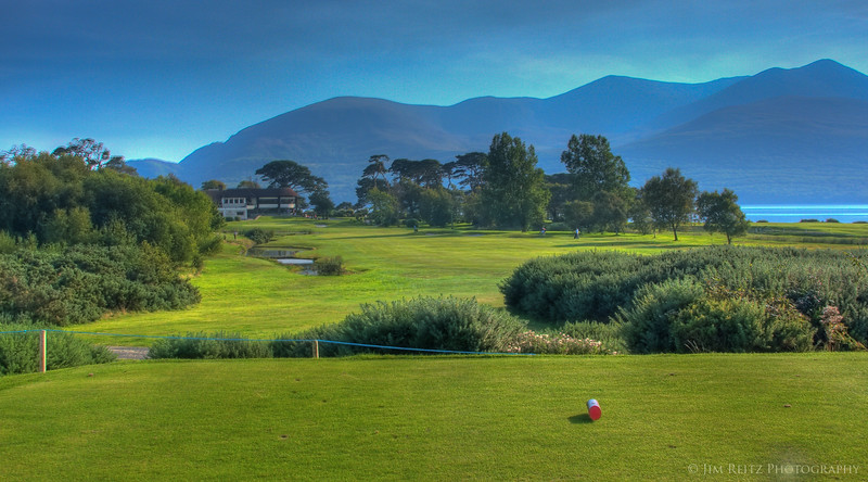 The 18th at Killarney's Killeen Course - a fun finishing hole.