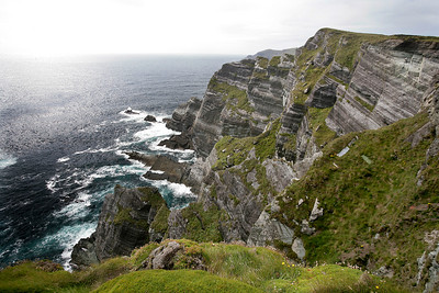 View west over the Atlantic Ocean near Portmagee, County Kerry, Ireland