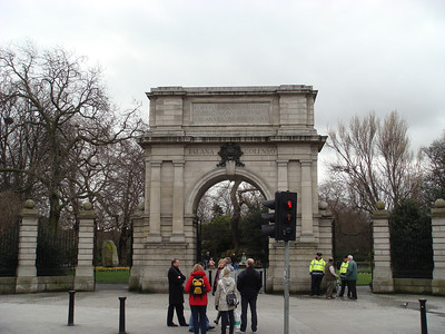 Gate at the entrance to St. Stephen's Green, a park in Dublin