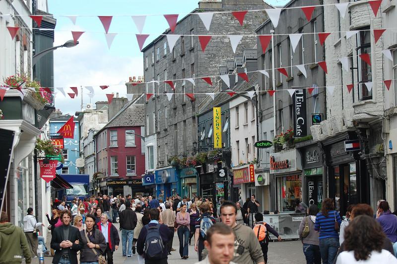 Walking through Galway