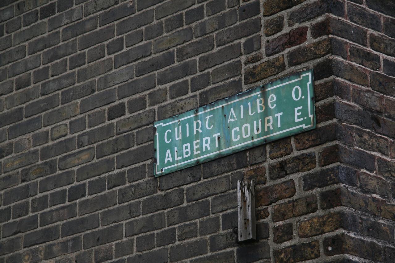 Bi-lingual street sign.