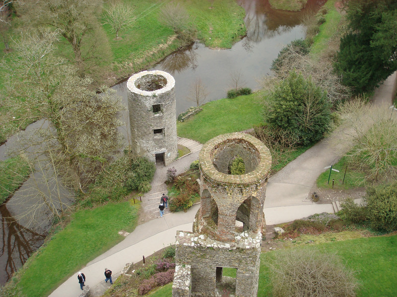 View of towers from the top of Blarney Castle.
