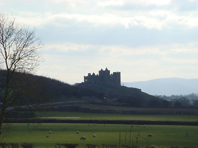 The Rock of Cashel, also known as St. Patrick's Rock, seen approaching Cashel