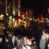 "The <a href=""http://en.wikipedia.org/wiki/Temple_Bar,_Dublin"">Temple Bar</a> area the night before St. Patrick's Day"