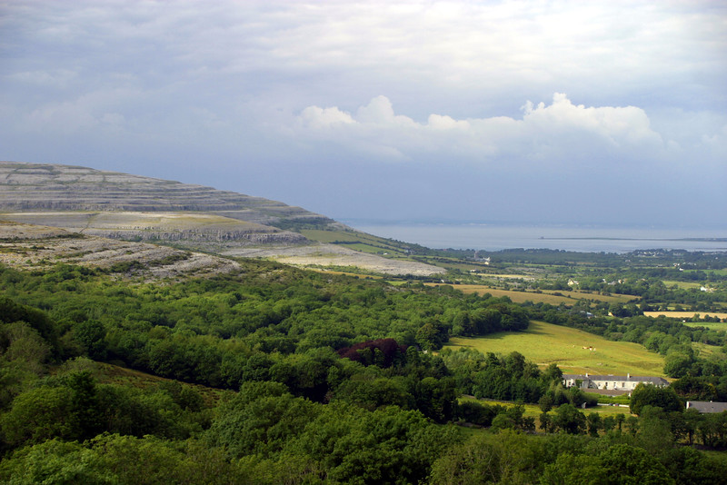 View from Corkscrew Hill, The Burren, County Clare