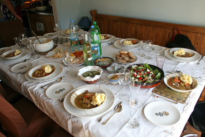 On Sunday we visited some of our cousins and my great aunt in Whitegate just south of Cork (see mapped point). Turns out my one of my cousins is a Chef! Here is the spread she made for us!