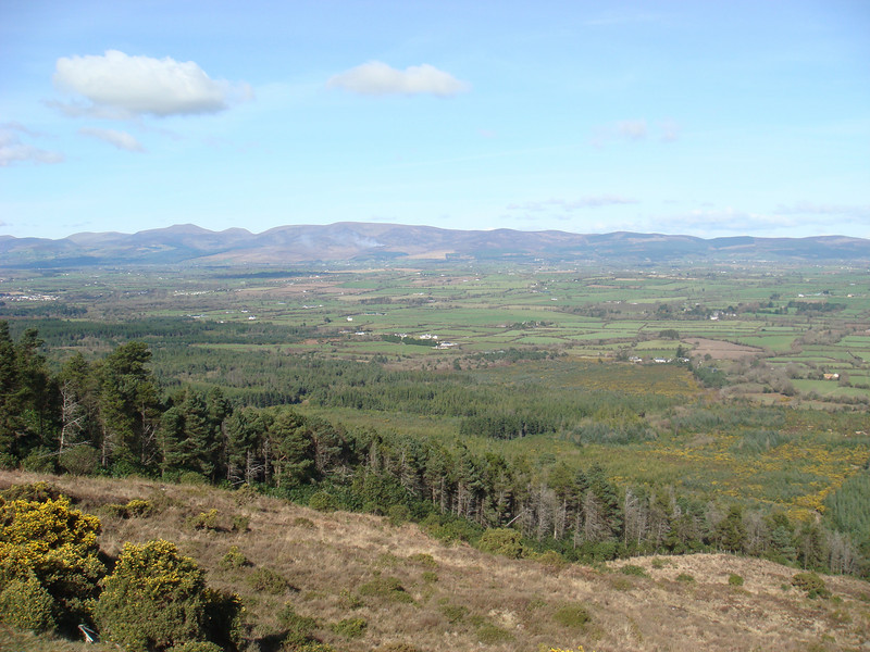 View of the countryside seen from part way up the Knockmealdown mountains