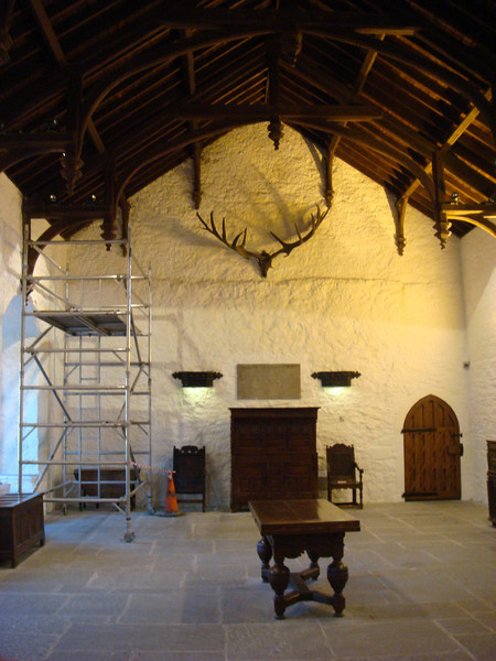 Dining hall in Cahir Castle