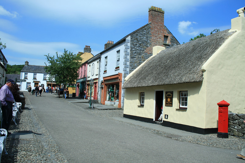 This is a street in the Bunratty Folk town. This is similar to what life in Ireland looked like back in the day...