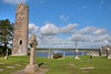 High Cross and round tower at Clonmacnoise, Co. Offaly