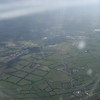 View of the Irish countryside as our plane took off