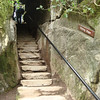 "Wishing steps in the <a href=""http://www.blarneycastle.ie/pages/rock"">Rock Close</a>, a set of rock formations on the grounds of Blarney Castle.  Legend has it that if you walk up and down these steps, backwards, with your eyes closed, a wish will be granted.  My wish was not to injure myself, which I achieved by <i>not</i> trying this."