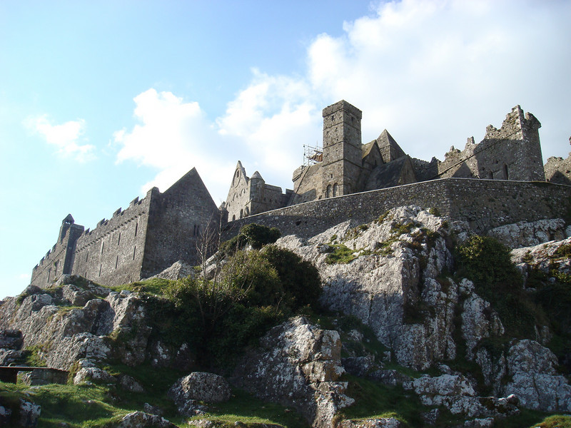 View approaching the Rock of Cashel