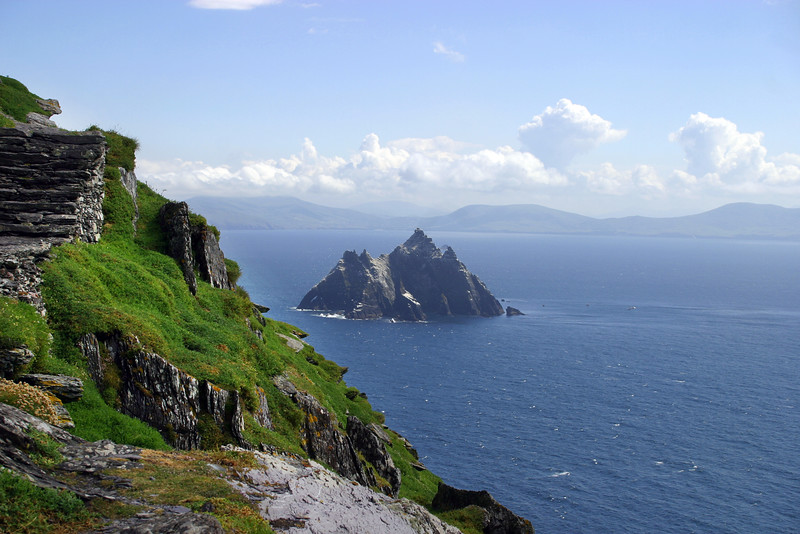 View of Little Skellig from Skellig Michael, Co. Kerry