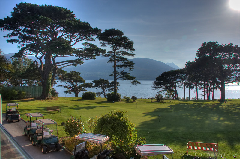 Even the practice green has gorgeous views at Killarney.