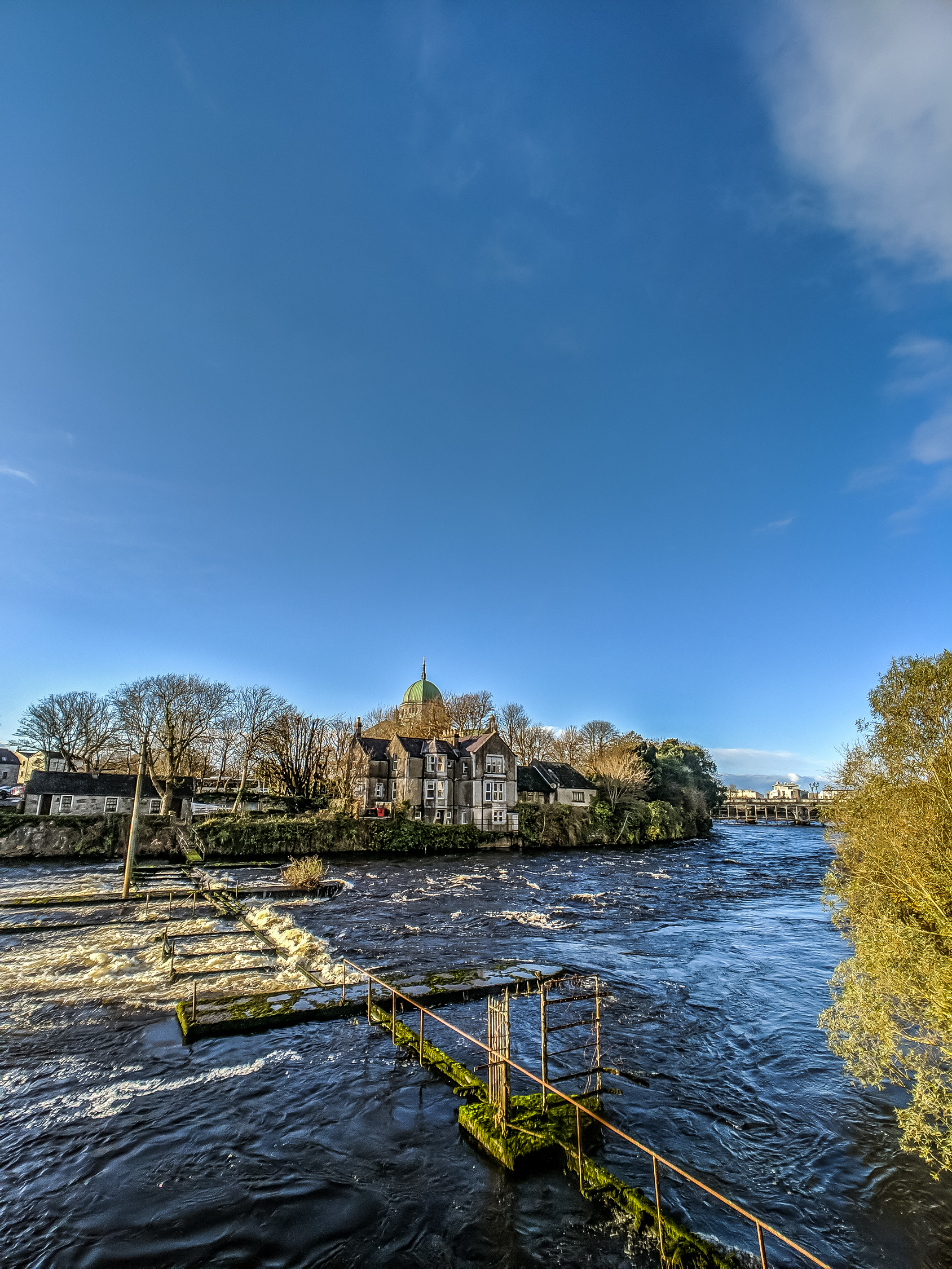 The fastest flowing river in Galway Ireland
