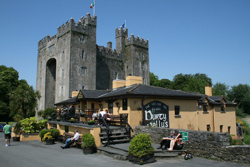 "The Bunratty Castle and Folk park near Shannon, Ireland. And of course the local pub ""Durty Nelly's"" where visitors can start and end their tour with a pint."