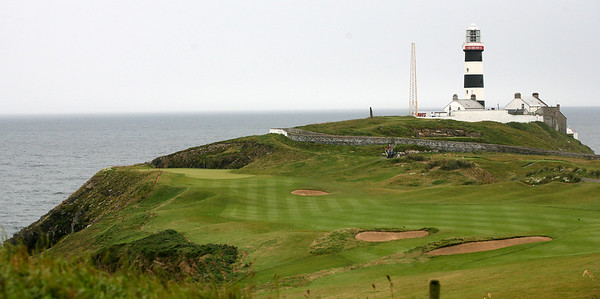 The Par-4 Fourth hole, The Razor's Edge, at the Old Head Golf Links, Kinsale, County Cork, Ireland