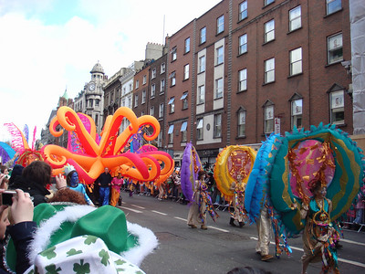 Performers in the St. Patrick's Day Parade, Dublin