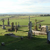 Graveyard at the Rock of Cashel, overlooking the Irish countryside