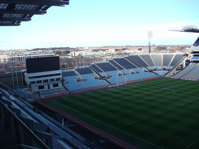 View from one of the upper stands at Croke Park.