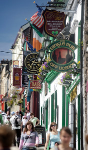 Street scene in Dingle town, County Kerry, Ireland
