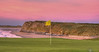 The sky turns pink at sunset behind Tralee's 2nd hole.