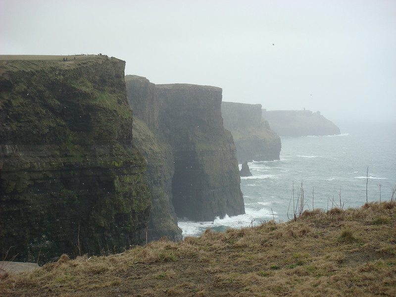 """The <a href=""""http://www.cliffsofmoher.ie/"""">Cliffs of Moher</a> on Ireland's west coast."""