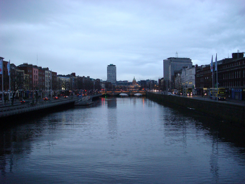Looking east from the Ha'penny Bridge