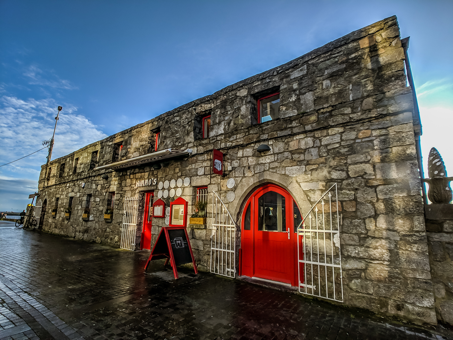 Exterior of Ard Bia, one of the most popular restaurants in Galway Ireland.