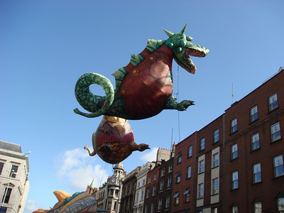Dragon balloon in the St. Patrick's Day Parade, Dublin