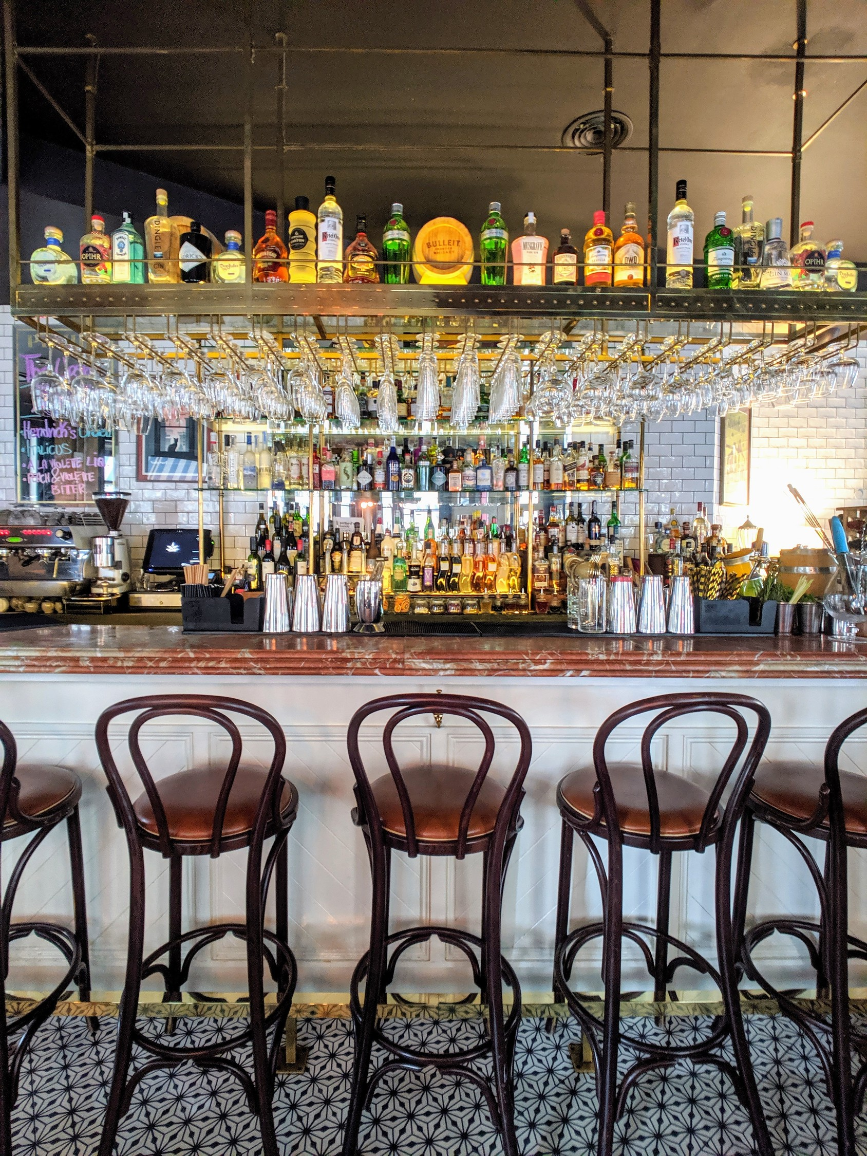 The front bar at Pichet considered one of the best restaurants in Dublin.