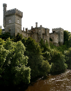 The Lismore Castle on the bank of the River Blackwater.