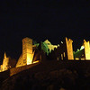 The Rock of Cashel lit at night