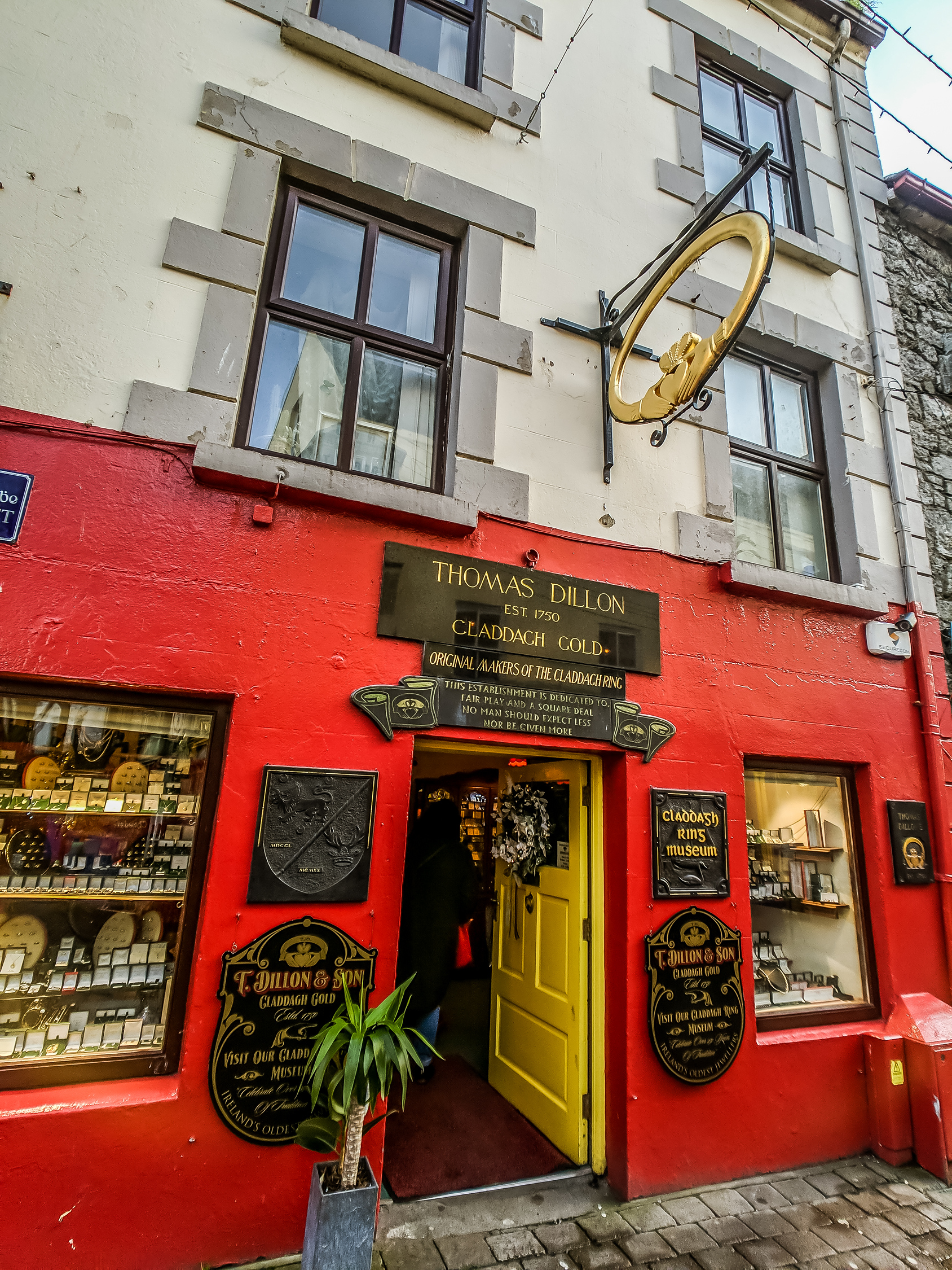 Exterior of Claddagh Ring Museum one of the most popular things to do in Galway Ireland.