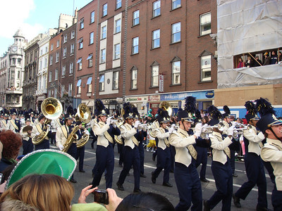 Cathedral High School (Indianapolis) Marching Band in the St. Patrick's Day Parade, Dublin