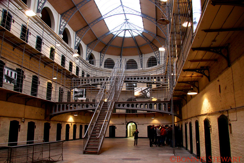 Victorian Wing of the Kilmainham Gaol, a former prison that is now a museum and often times movie set