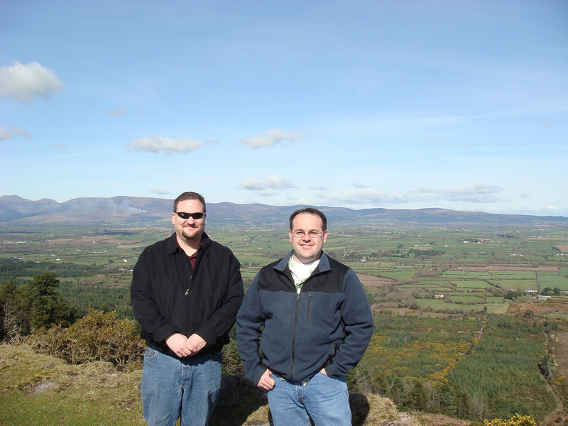 Matt and I at the Knockmealdown mountains