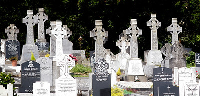 Grave markers, Bantry, County Cork, Ireland.