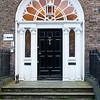 Classic Georgian door on Merrion Square