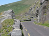 Single lane switchbacks on the Dingle Peninsula.  If there is an oncoming vehicle, someone has to find a wide spot in the roadway and pull off.