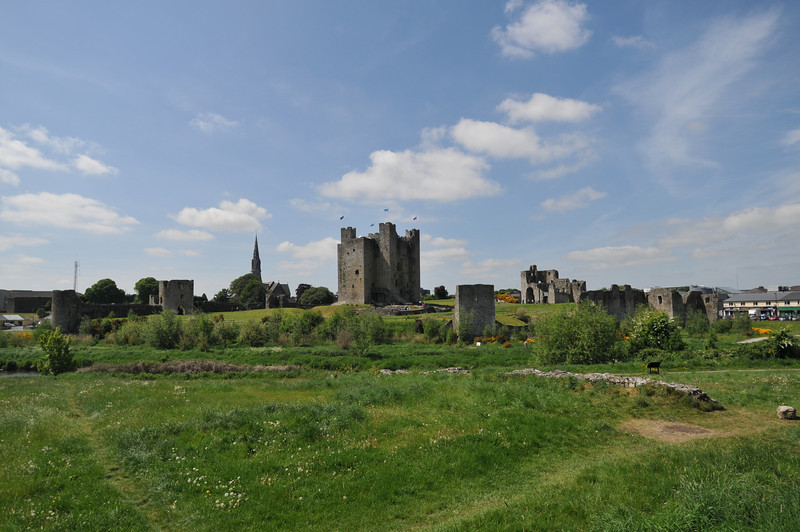 Another view of Trim Castle from across the stream.