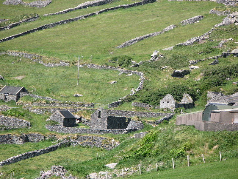 stone houses and fencing