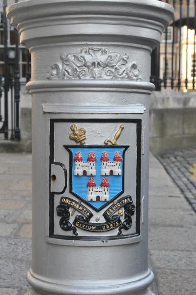 Lamp post base detail.  Downtown Dublin.