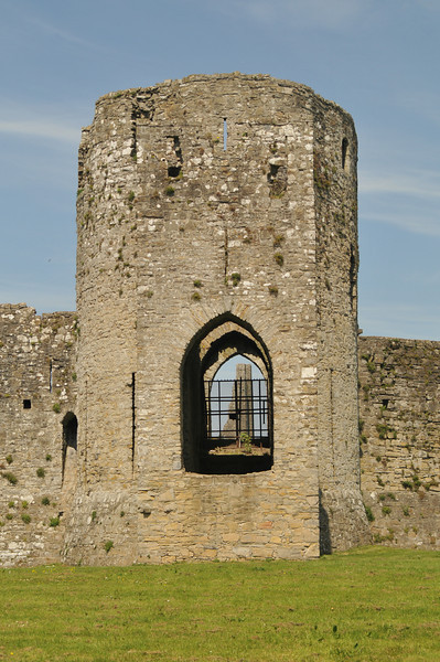 Trim Castle with the Cathedral in the window.