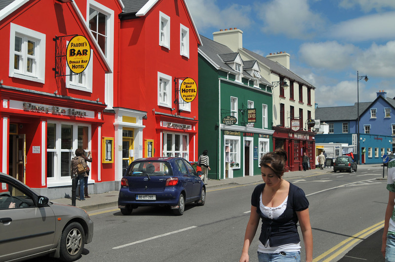 Row of shops in Dingle